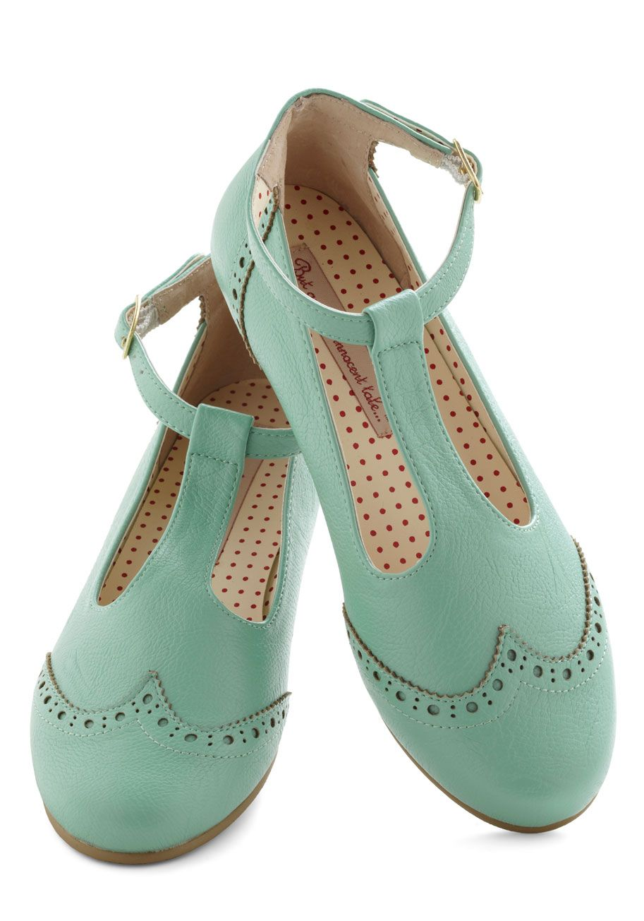 Joy and Merri-mint Flat by Bait Footwear - Mint, Solid, Cutout, Menswear Inspired, Flat, Leather, Pastel, Spring