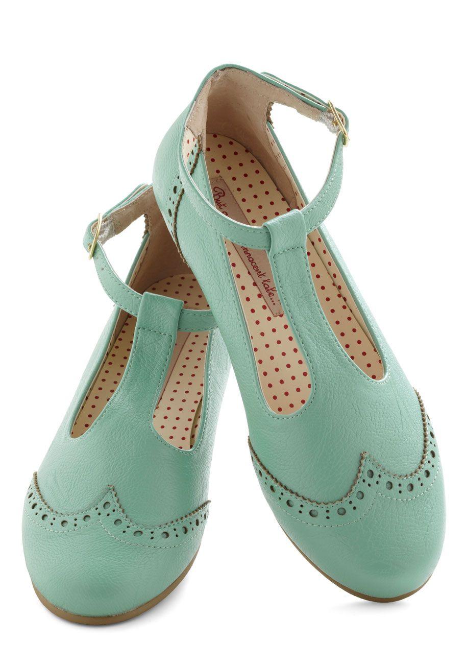 Joy and Merri-mint Flat by Bait Footwear - Mint, Solid, Cutout, Menswear Inspired, Flat, Leather, Pastel, Spring