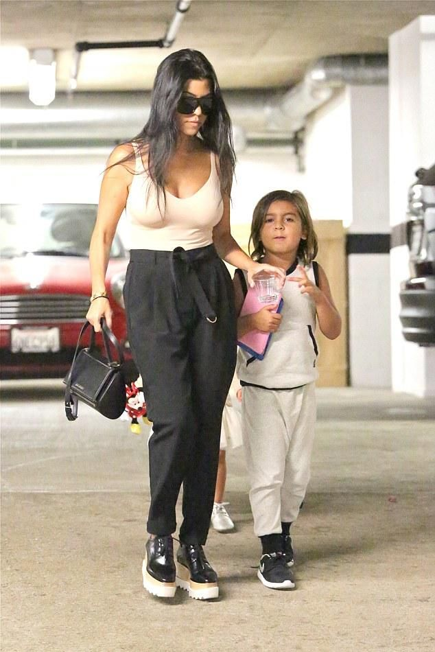 a70b1a1552 Kourtney Kardashian wearing Givenchy Rigid Mini Pandora Bag