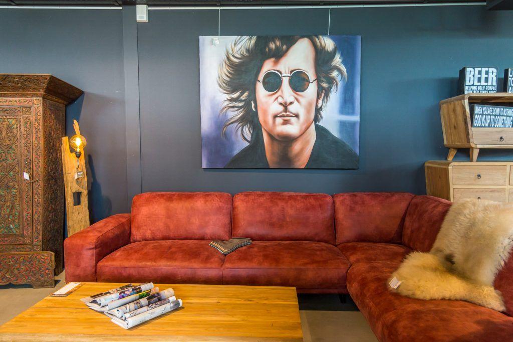 Rode hoekbank nederlands fabrikaat ruben betsema wonen in stijl