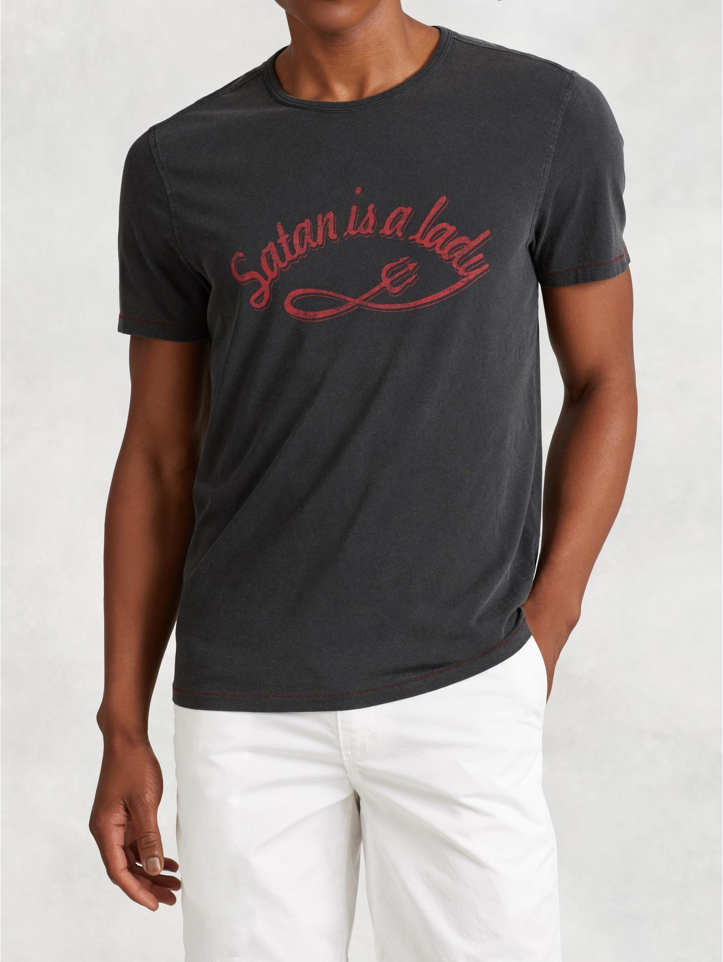 John Varvatos Star USA Mens Short Sleeve Punk Graphic Crew T-Shirt