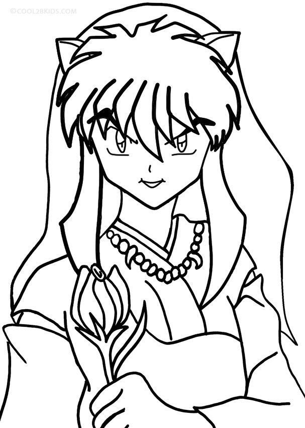 Printable inuyasha coloring pages for kids cool2bkids ramma Inuyasha Battle Stance Coloring Pages Blue Exorcist Coloring Pages inuyasha coloring pages to print