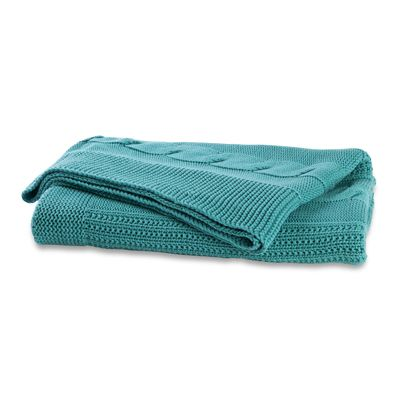 130x180cm Cable Knit Throw Ocean Cable Knit Throw Knit