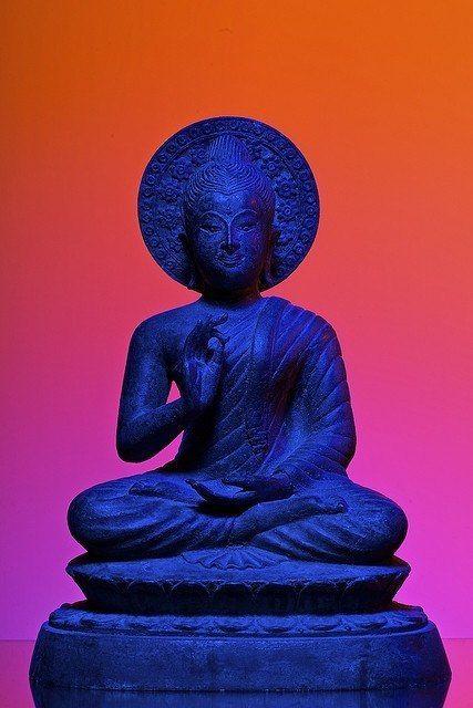 buddha blue and orange