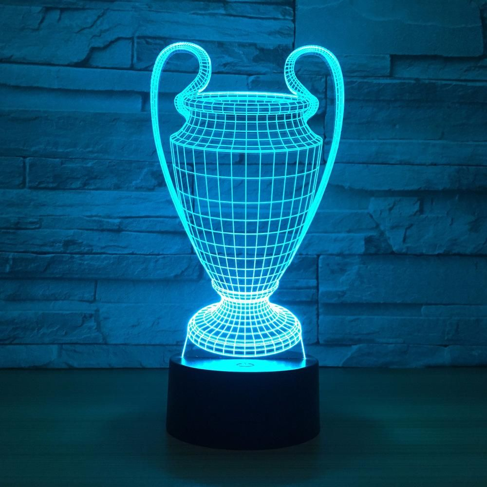 Trophy Cup Wards 3d Optical Illusion Lamp Led Night Lamp 3d Led Night Light Led Night Light