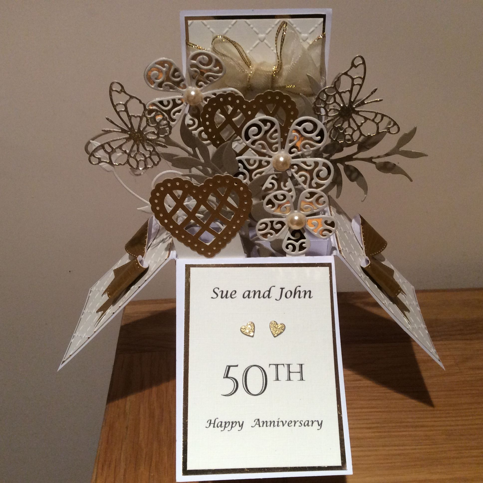 Exploding 25th Silver Wedding Anniversary Box Card Etsy 50th Wedding Anniversary Card Box Golden Wedding Anniversary Card Silver Wedding Anniversary