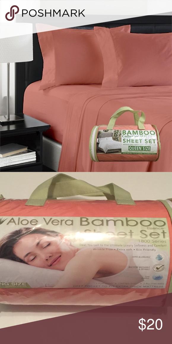 Aloe Vera Bamboo Sheet Set Queen Size Nwt