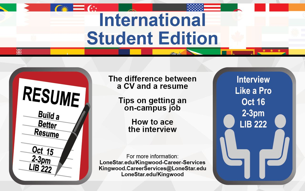 Build A Better Resume And Interview Like Pro Stop By LIB 222 On October 15 16 Between 2 3 Pm For Tips Getting Job