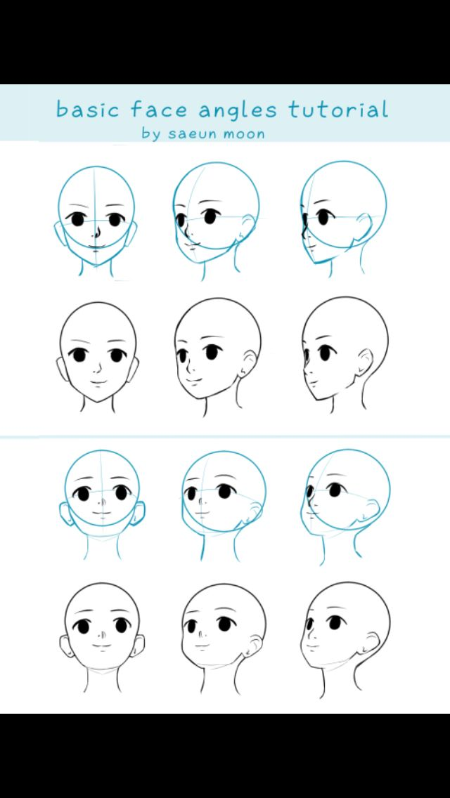 Angles Drawing Tutorial Face Anime Face Drawing Drawing Tutorial