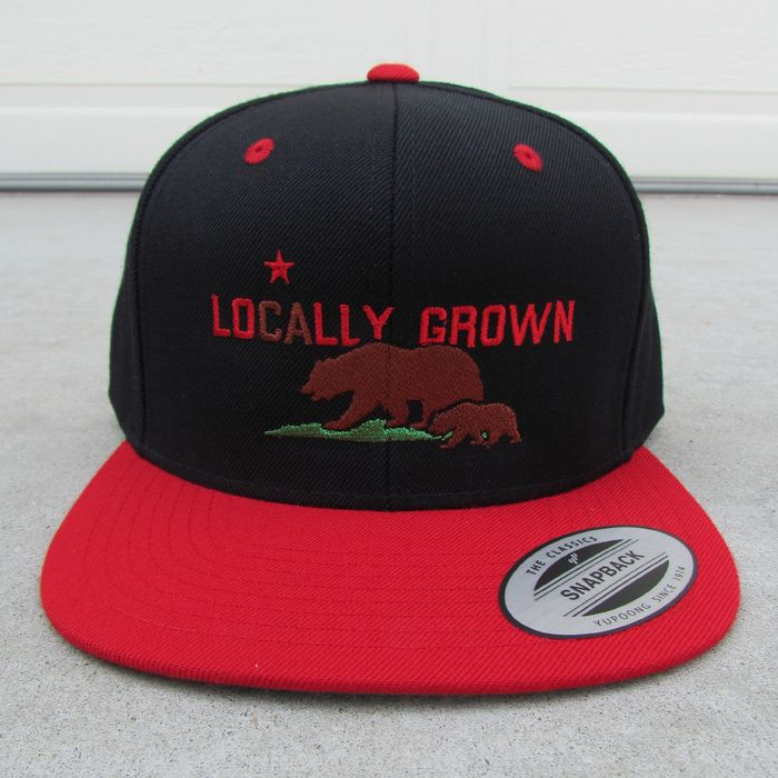 24-7 Daddyhood - LOCALLY GROWN – California Bears CA Flag Black