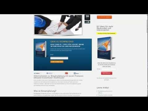 Einsatzplanung mit excel, Freeware inklusive kostenloser Downloads