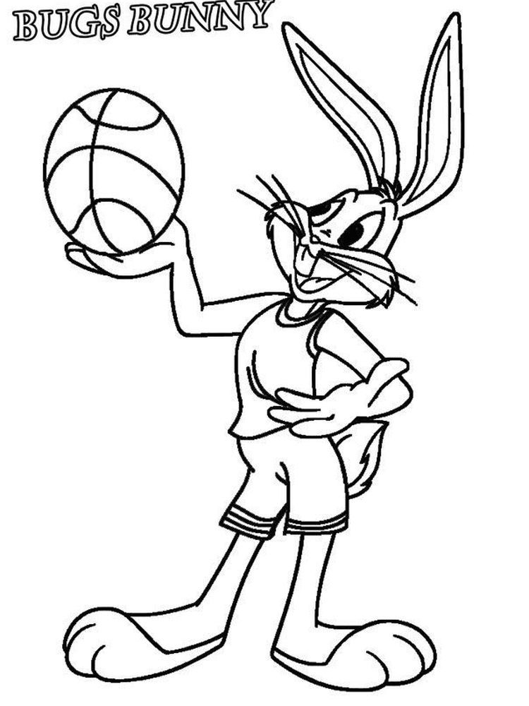 Bugs Bunny Coloring Pages Online Free In 2020 Bunny Coloring