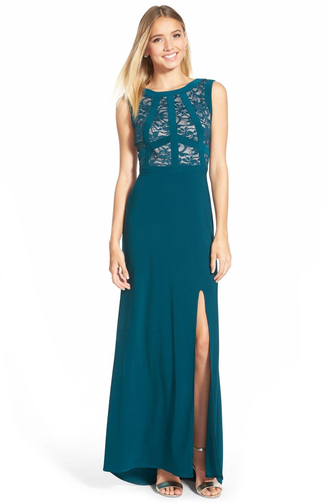 Morgan Co Lace Bodice Gown Nordstrom Gowns Guest Dresses Dresses [ 1687 x 1100 Pixel ]