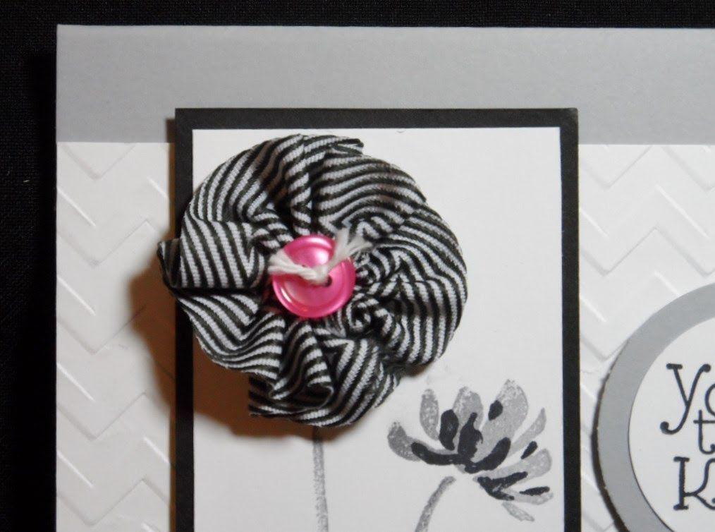Week 33 Ruffled Ribbon Flowers