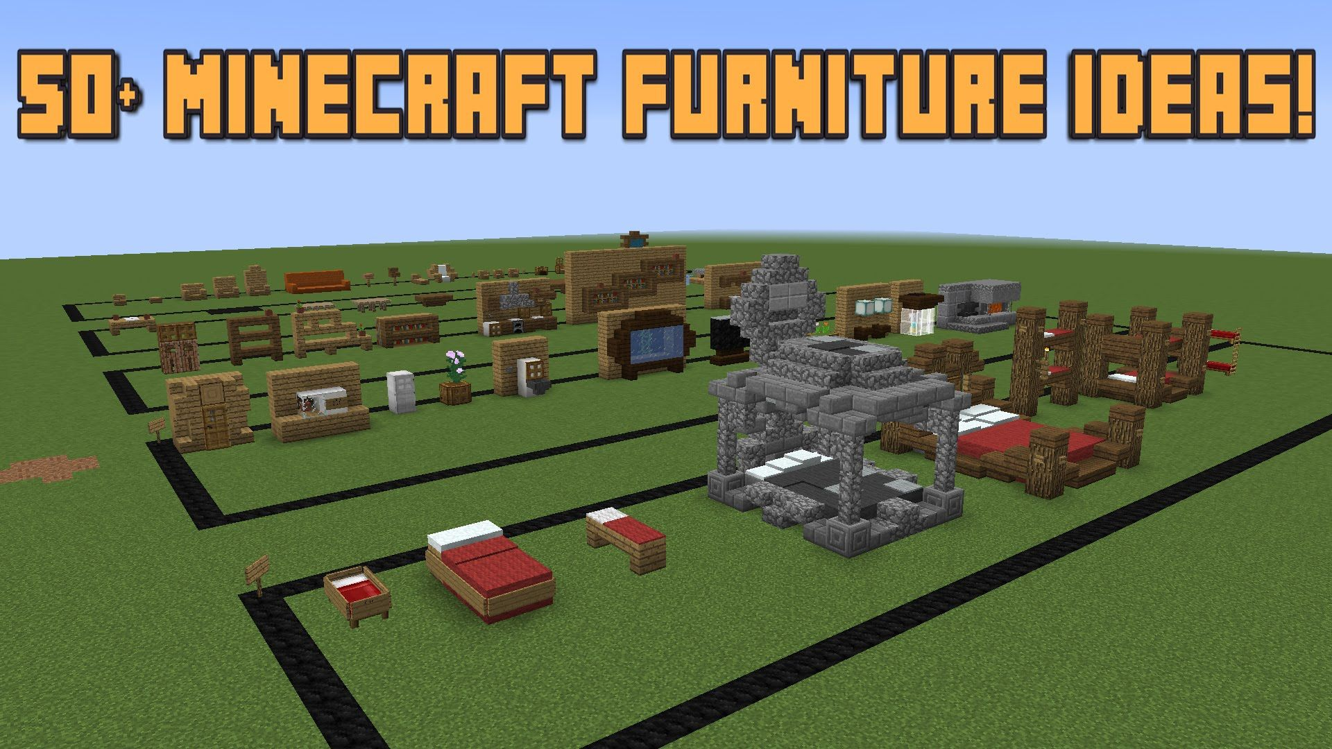 Hey guys  put together as many minecraft furniture interior decorations could and have used throughout my building career probably forgot  bunch also rh in pinterest