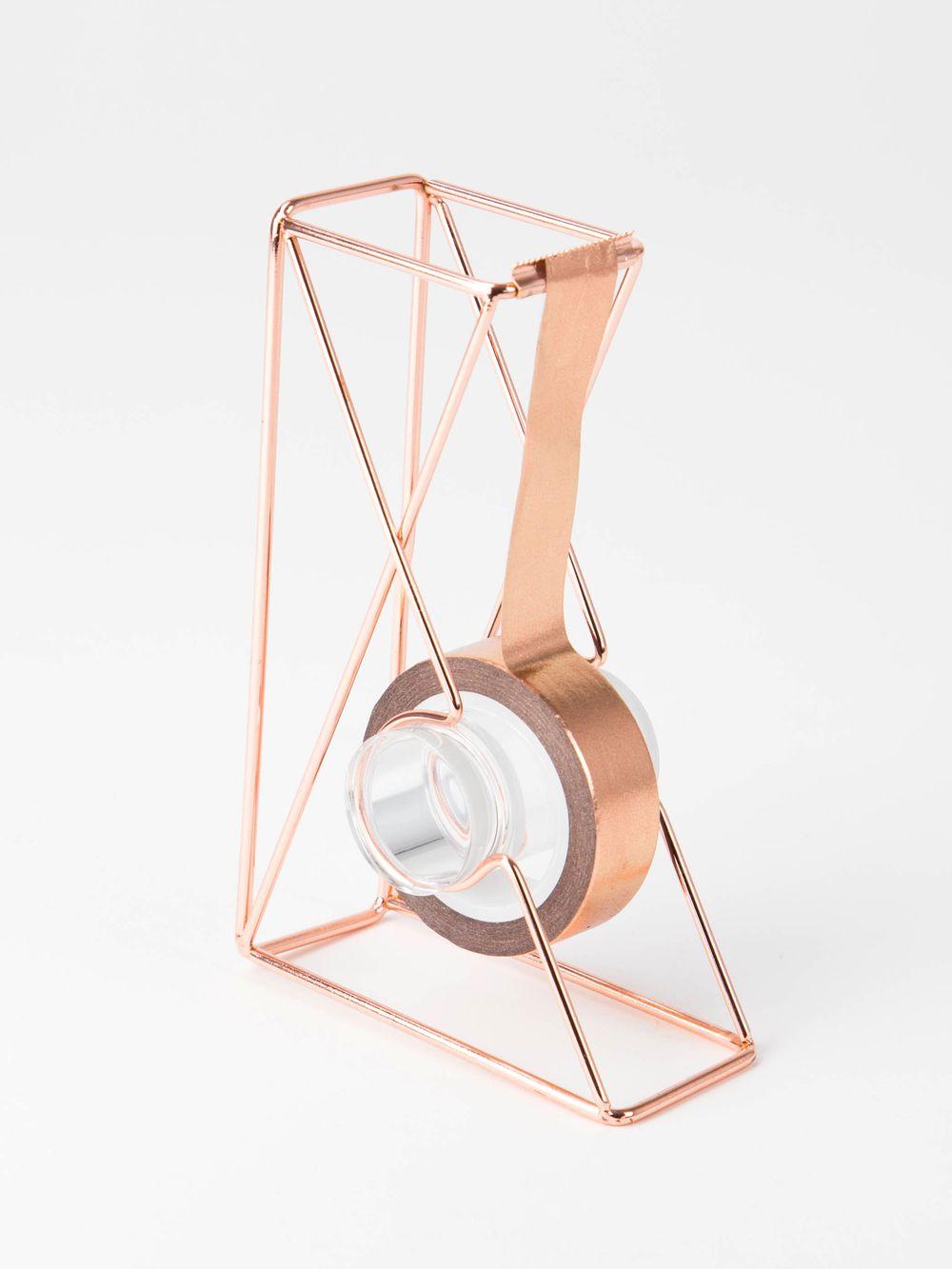 Wire Tape Dispenser, Copper | Kupfer, Kupferdraht und Klebeband