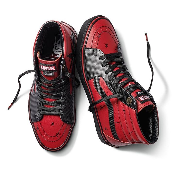 "Marvel x Vans Hi-Sk8 ""Deadpool"" 