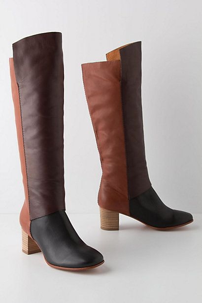 Anthropologie Colorblocked Boots