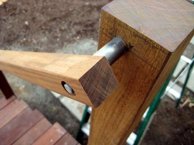 The decking, handrails, posts, and rail cap are all ipe, a very ...