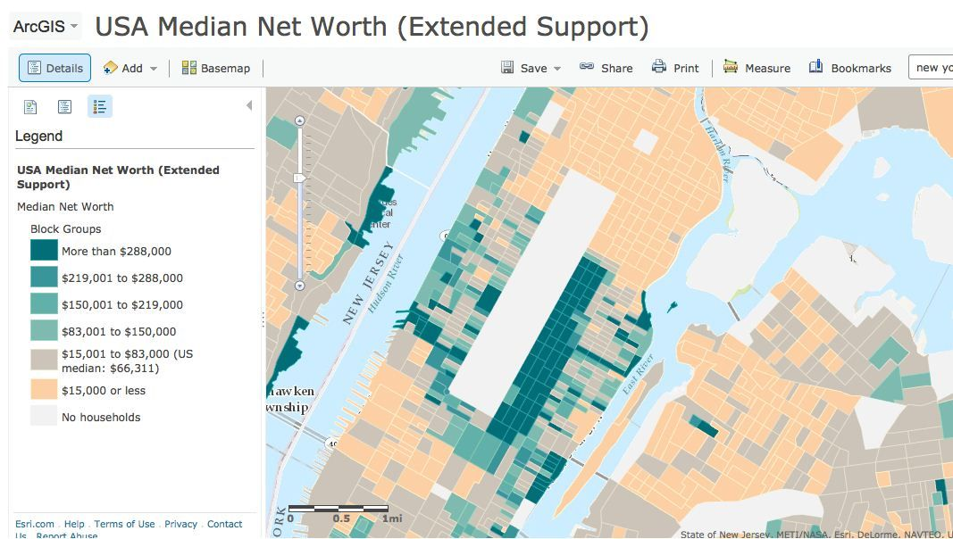 Visualization Of The Day New York City S Wealth Gap Mapped In Jenny Xie The Atlantic Cities