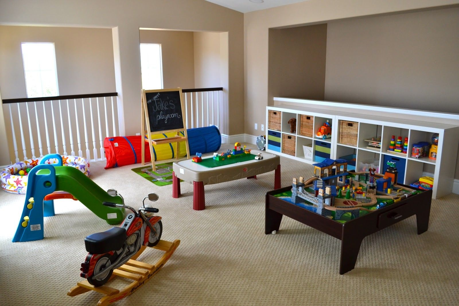 Kids Room Decor Colorful Game Ideas White Shelves Bamboo And Green Blue Stripes