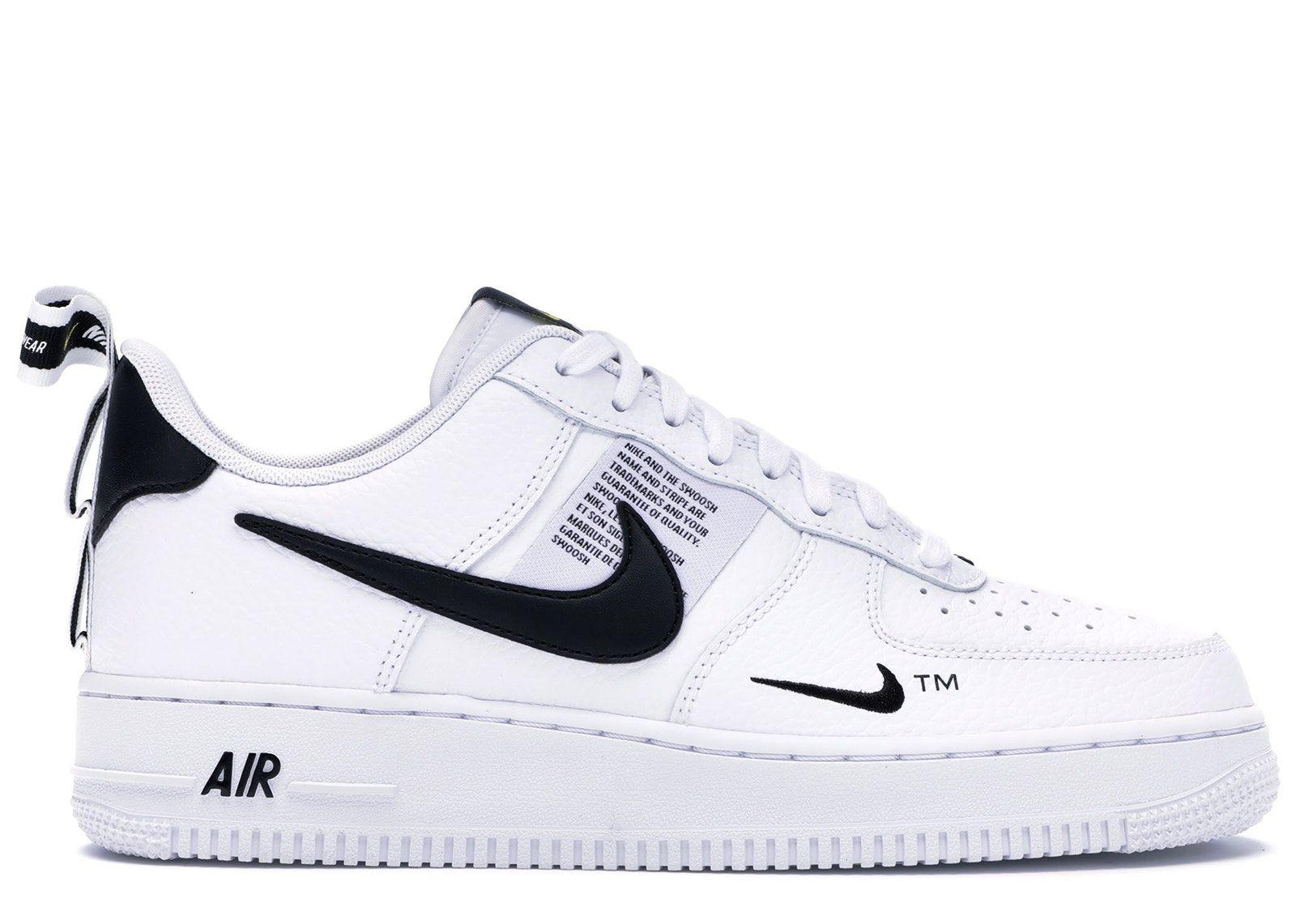 Nike Air Force 1 Low Utility White Black In 2020 Nike Air Shoes Black Nikes White Sneakers Women