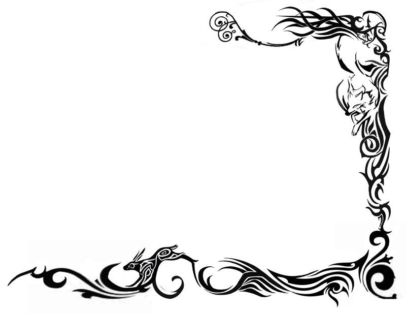 tattoo borders designs cliparts co swirls art ill pinterest rh pinterest com Webbed Border Tattoo Designs tattoo border ideas