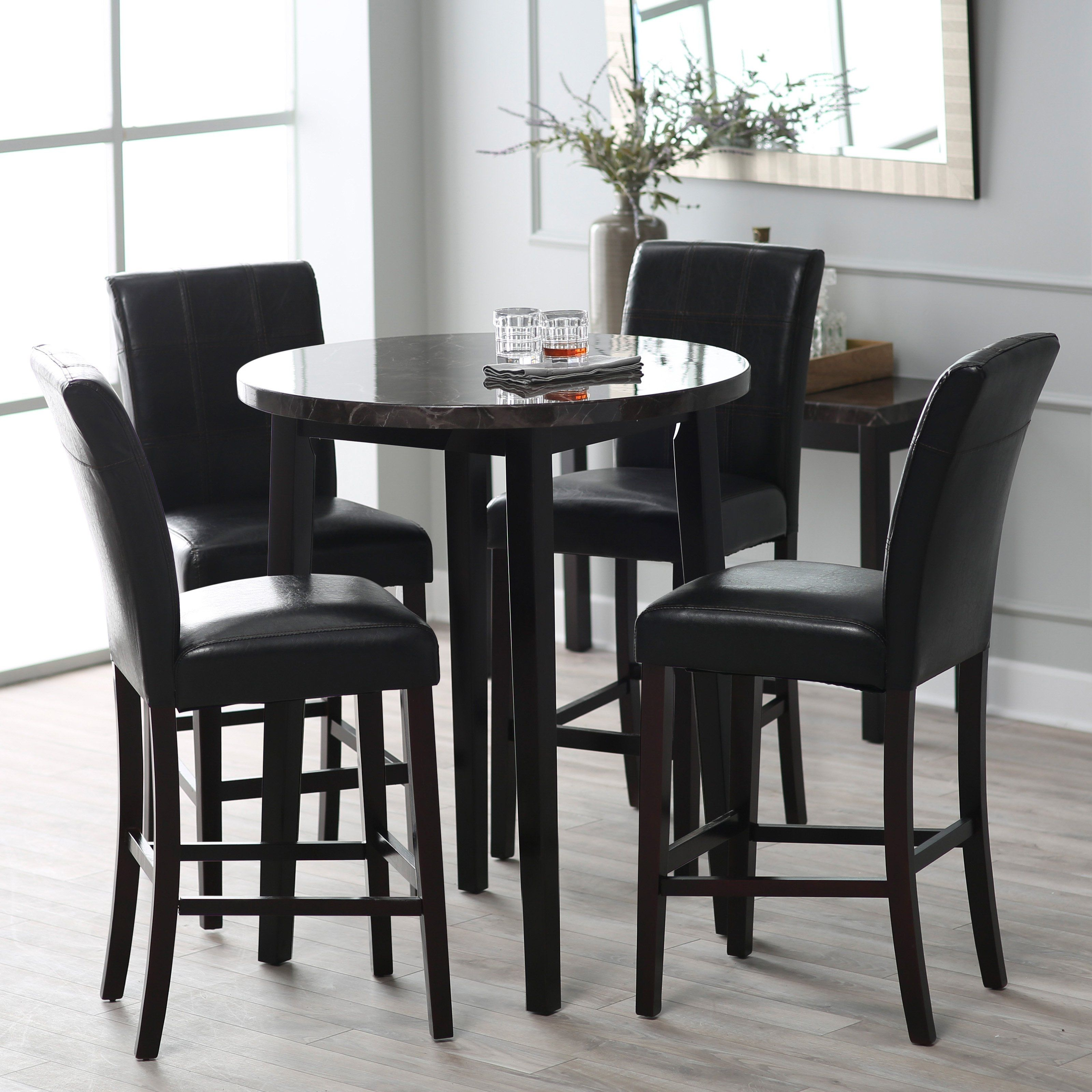 black high table and chairs  pub kitchen table kitchen