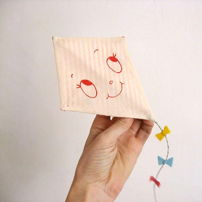 Custom greeting card. Kite.