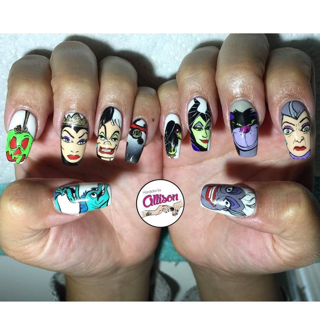 Disney Villain Nail Art Disney Inspired Nails And Makeup