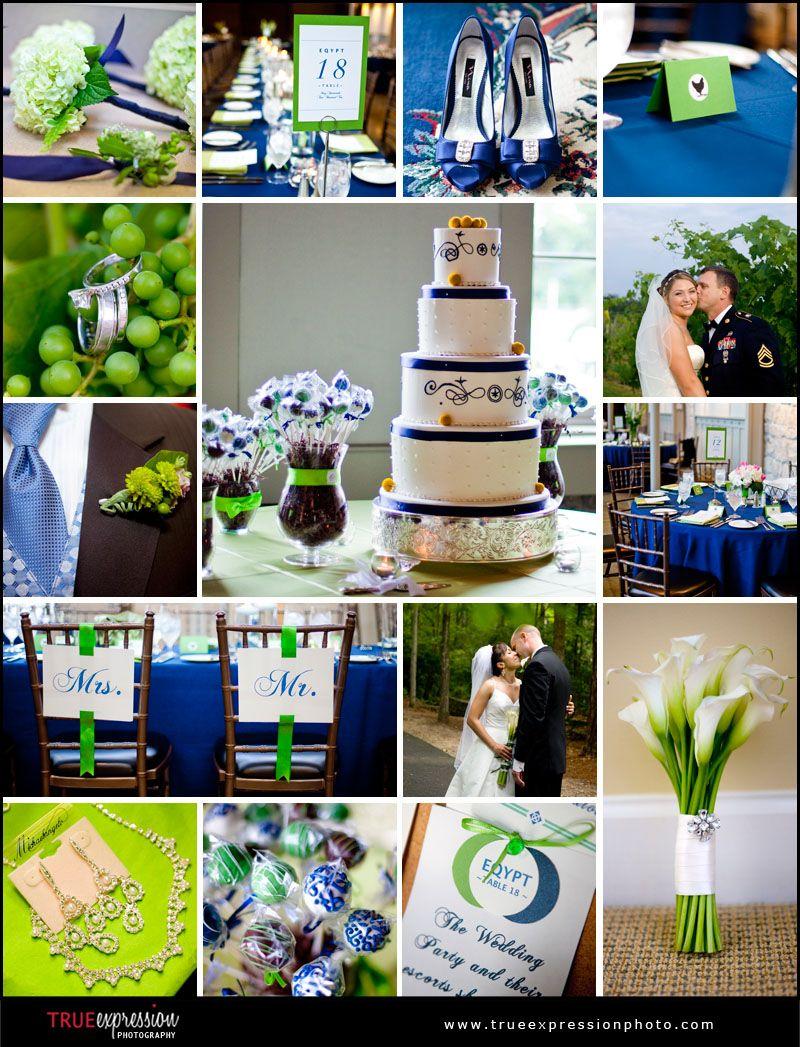 Green And Royal Blue Wedding I Love This Shade Of