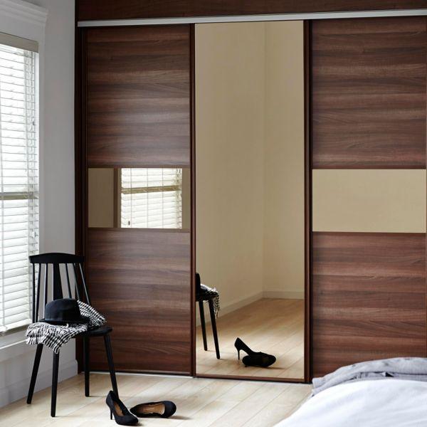 Bedroom Cupboards With Mirror Sliding Doors Bedroom Athletics Review Bedroom Furniture Arrangement Ideas 3 Bedroom Apartment Plan 3d: Bedroom_Sliding_Doors_Walnut_Bronze_Mirror_Main_HR (600