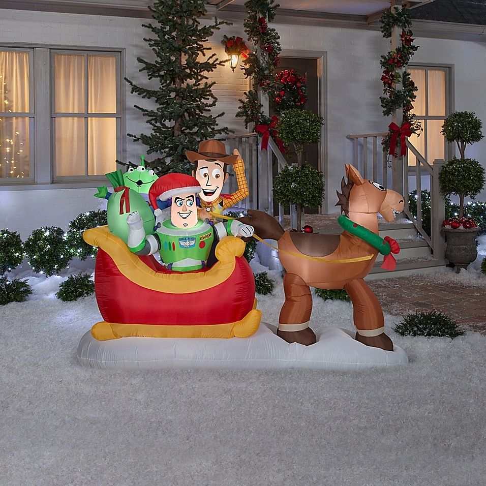 Toy Story Sleigh 5 Inflatable Multi Outdoor Holiday Decor Outdoor Christmas Decorations Outdoor Christmas