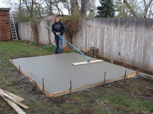 How To Make Concrete Pad For Hot Tub