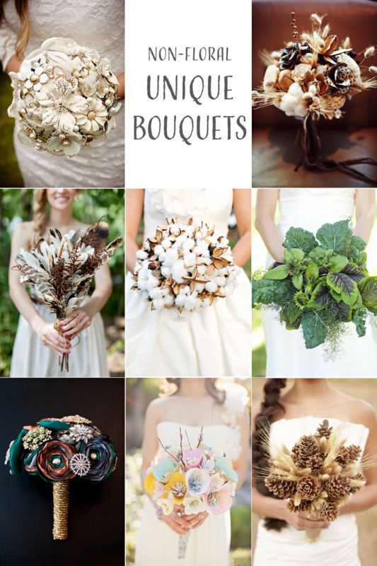 Non Floral Wedding Bouquet Ideas