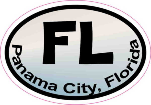 X oval pastel fl panama city sticker vinyl florida bumper stickers