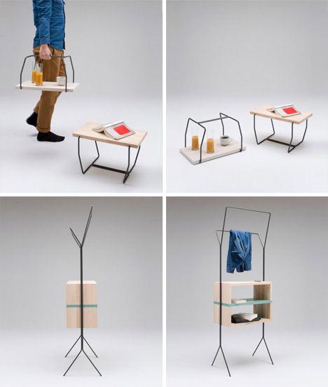 Pretty Portable Cute 3 Piece Convertible Furniture Series