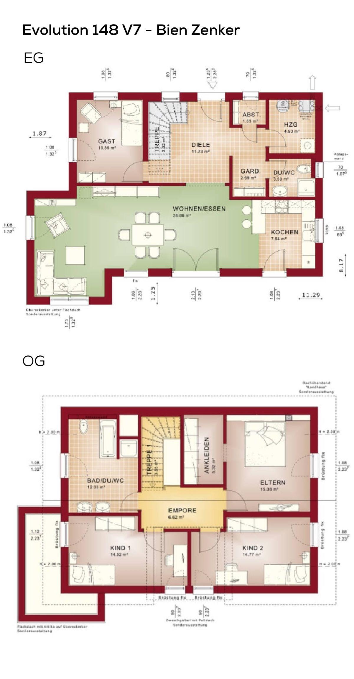 Grundriss Einfamilienhaus Neubau Modern Mit Satteldach Erker Anbau