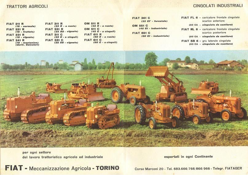 Trattori Fiat Anni 50 Tractors Farm Tractor Komatsu