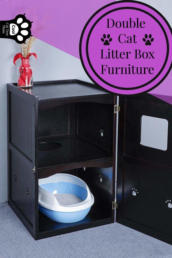 Cat Litter Box Furniture Kitties Cat Tree Plans Cool