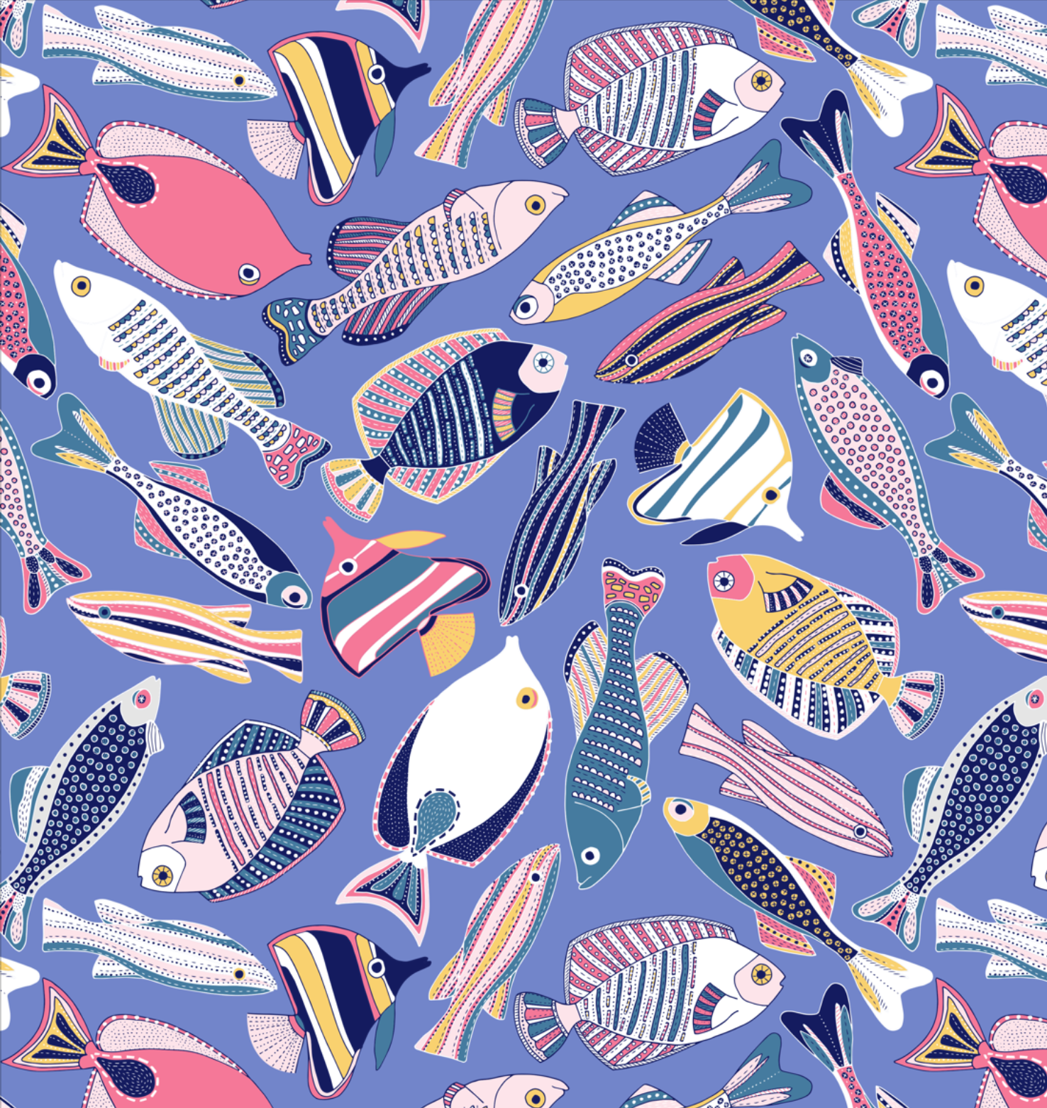 Fishes #surfacepatterndesign