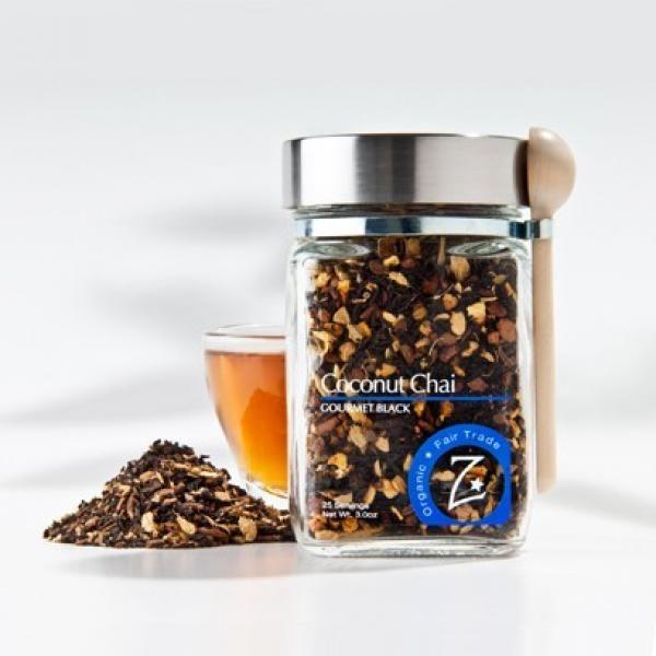 Beneficial Sips | VIVAIODAYS Zhena's Gypsy Tea ORGANIC COCONUT BLACK CHAI TEA JAR $12.99