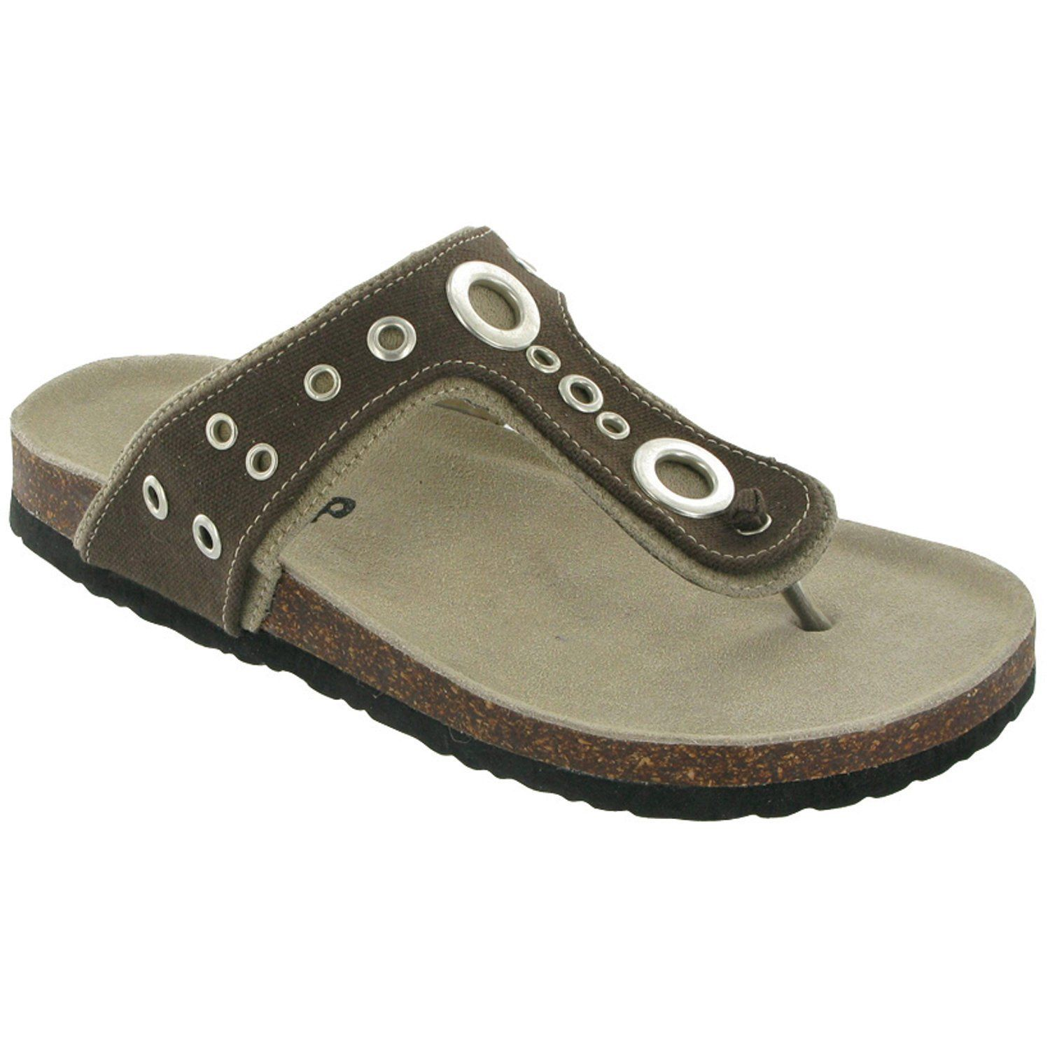 85b03fd9bbe9 Divaz Womens Sandals Camper Toe Post with Eyetes Design - Black   £18.99