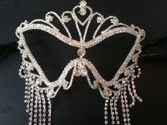I need this immediately! Swarovski Diamond Vintage Mask by JupiterPrints, $88.00