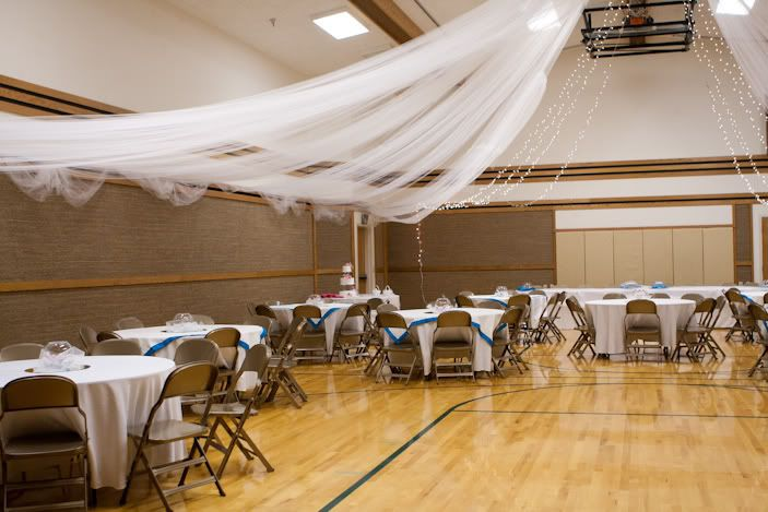 Parachute Drape For Wedding In Gym