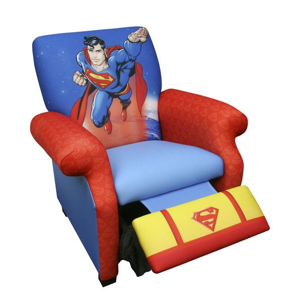 Superman Kids Deluxe Recliner Chair  sc 1 st  Pinterest & Superman Kids Deluxe Recliner Chair | Superhero Kids Furniture ... islam-shia.org