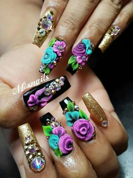 Pin by nori mdz on nail art | Pinterest | Crazy nail art, Crazy ...