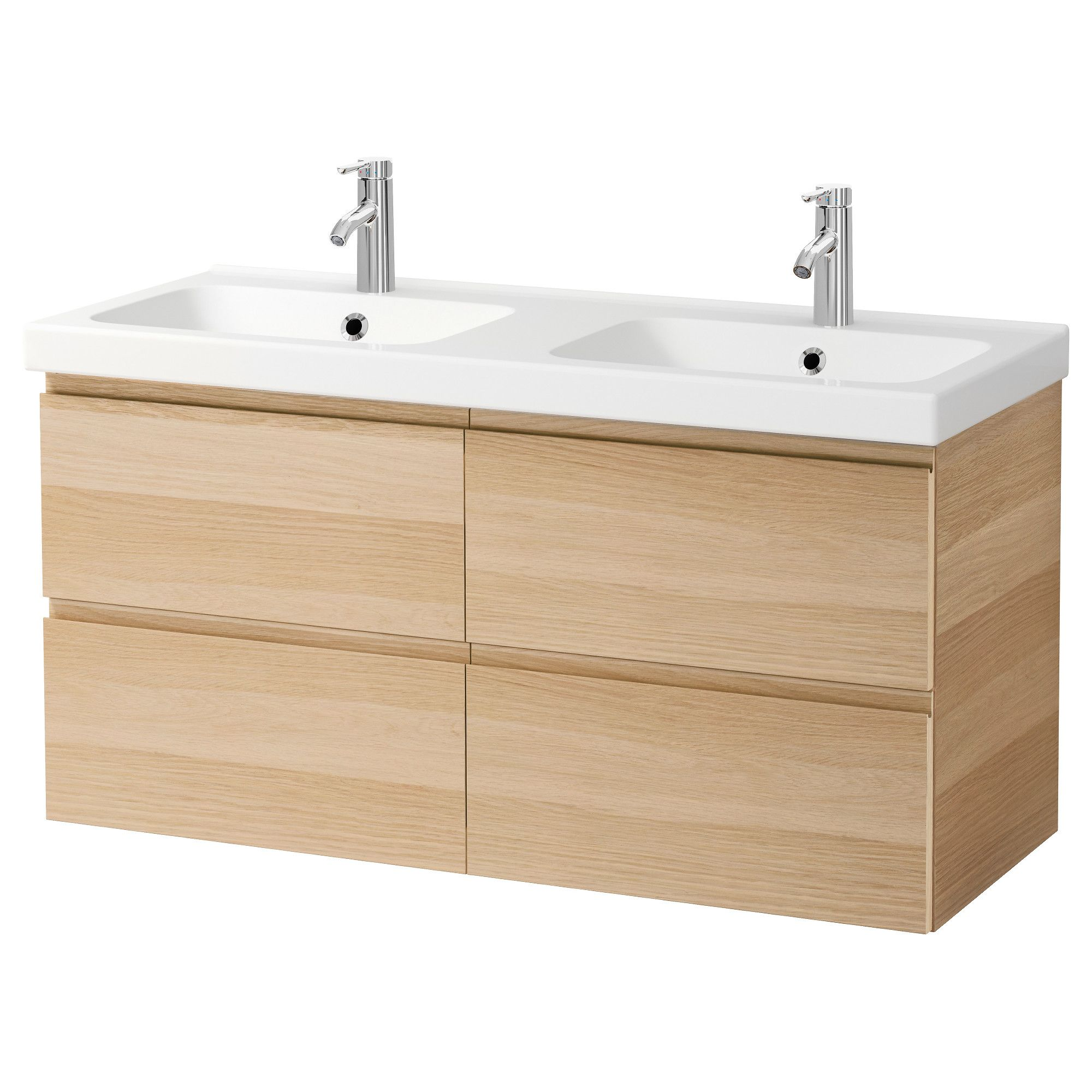 IKEA - GODMORGON / ODENSVIK Sink cabinet with 4 drawers white ... Ikea Bathroom Sink Cabinets on