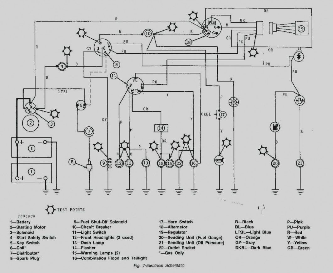 Electrical Schematic John Deere Lx255 Wiring Diagram