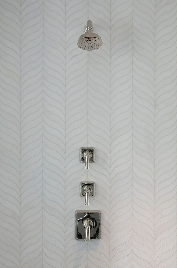 Decorator Tiles Master Bathroom With Feathered Herringbone Tile  San Francisco